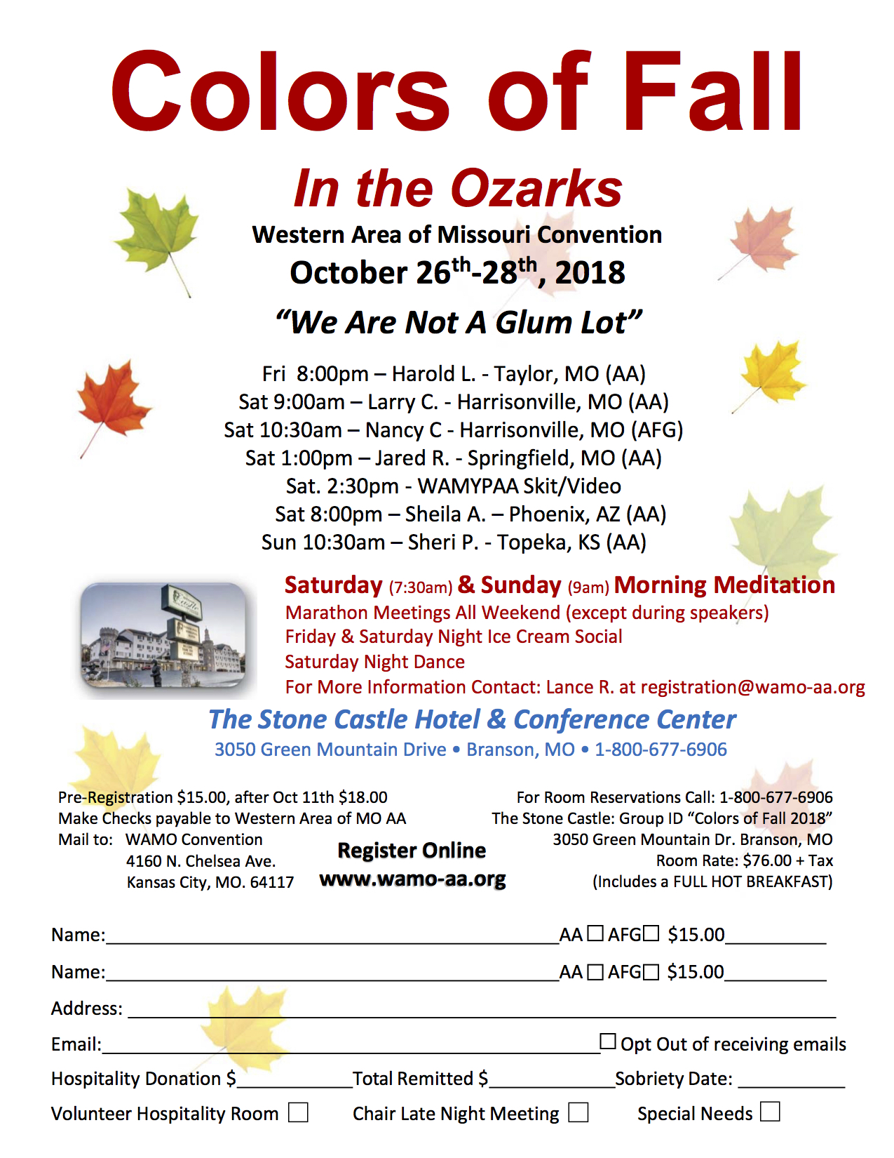 Colors Of Fall In The Ozarks 2018 Central Office Of